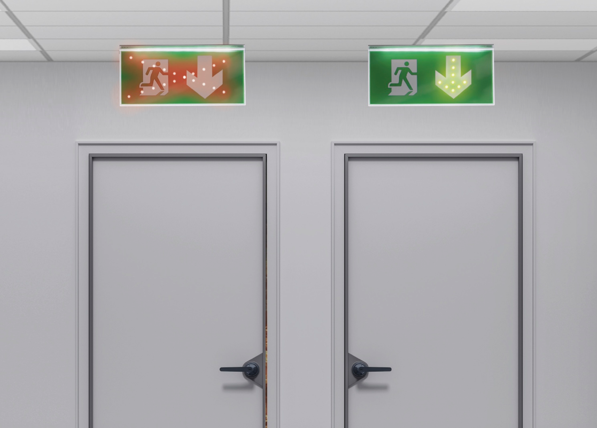 Dynamic and Adaptive Emergency Exit Sign